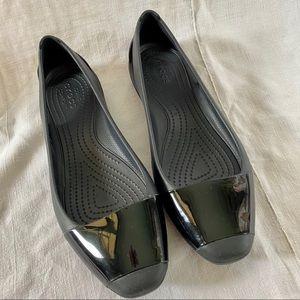 Crocs Open Vented Back Flat Ballet Rain Shoe